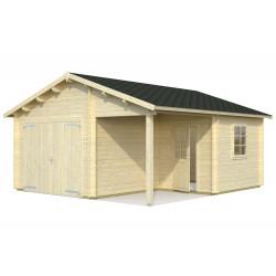 Garaje Roger 21,9+5,2 m² con puerta cochera de madera