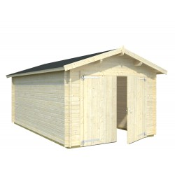 Garaje Roger 16,3 m² con puerta cochera de madera