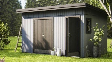 Cobertizos cobertizos de madera cobertizo corredera for Cobertizos de jardin baratos