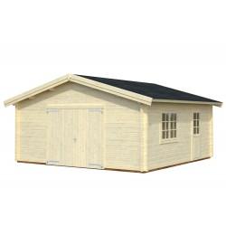 Garaje Roger 27,7 m² con puerta cochera de madera