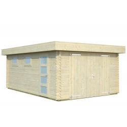 Garaje Rasmus 19,0 m² con puerta cochera de madera