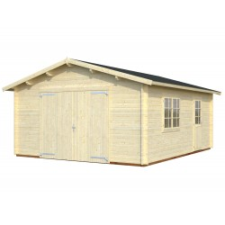 Garaje Roger 23,9 m² con puerta cochera de madera