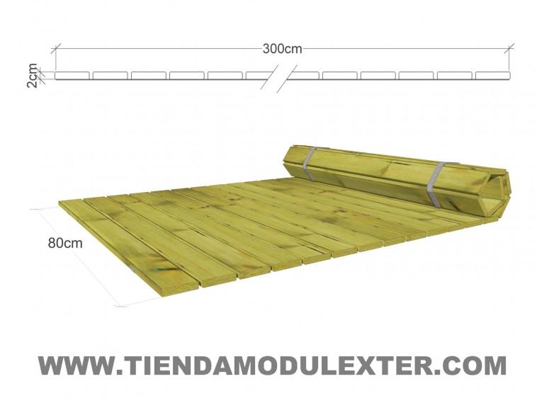 Pasarelas enrollables de madera