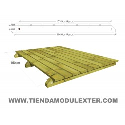 Pasarelas articuladas de madera