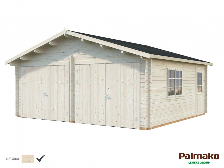 Garaje Roger 28,4 m² con puerta cochera de madera