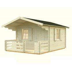 Cabaña de Madera Emma 10,4+4,2 m²