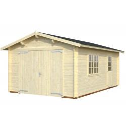 Garaje Roger 19,0 m² con puerta cochera de madera